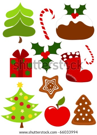 Christmas collection of icons. Vector illustration