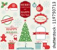 Christmas Decoration Collection - stock vector