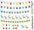 Christmas decoration vector set. Used pattern brushes included - stock