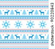 Christmas decorative ornamental seamless background fair isle traditional knitted motifs - stock