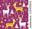 Christmas deers, Deco Tile - stock