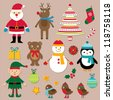 Christmas design elements vector set - stock vector
