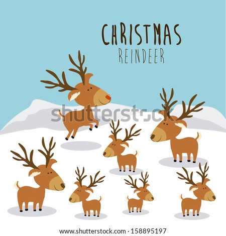 christmas design over landscape background vector illustration - stock ...