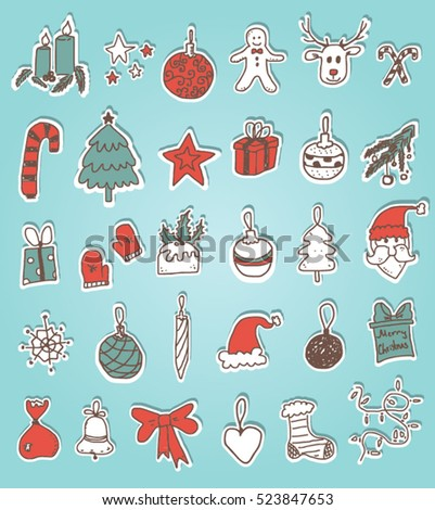 Christmas Doodle Stickers