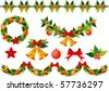 Christmas elements collection. Vector - stock vector