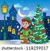 Christmas elf theme 2 - vector illustration. - stock vector