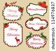 christmas frame set design. vector illustration - stock vector