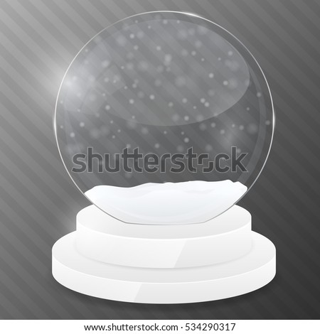 Christmas globe with snowflakes. Magic ball. Design template. Vector illustration.