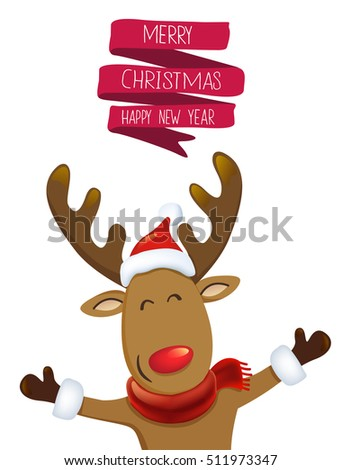 Christmas greeting vector illustration