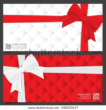 Christmas Holiday New Year Gift Voucher Stock Vector