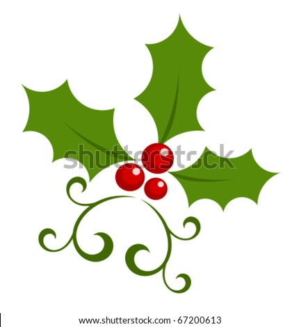 Holly Berries Clip Art Christmas holly berry symbol.