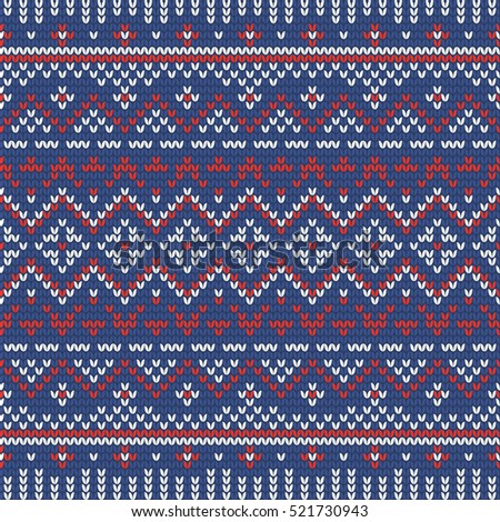 Traditional Fair Isle Style Seamless Knitting Stock Illustration ...