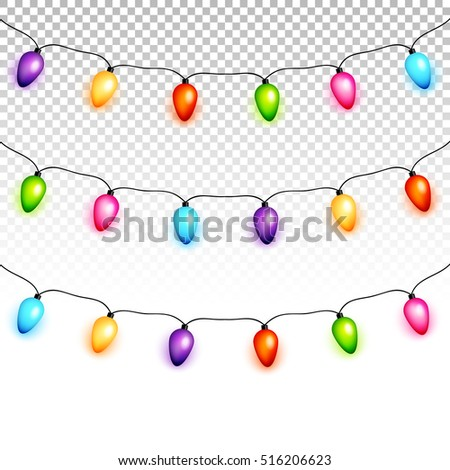 transparent christmas lights clipart