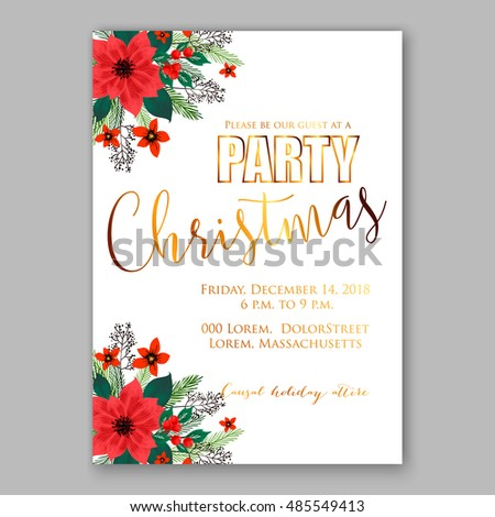 christmas lunch invitation template