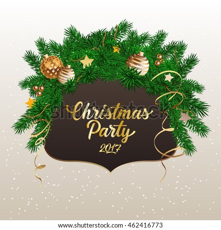 Christmas Party 2017 Lettering
