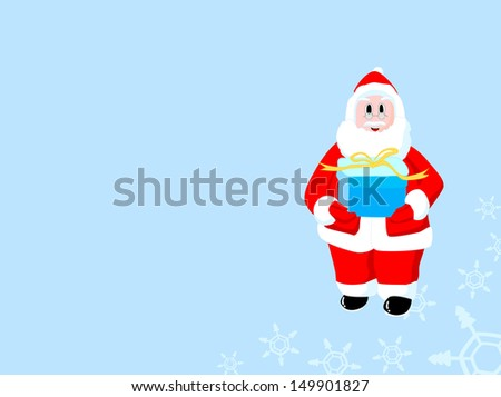 Christmas Santa Claus with color background for Xmas theme
