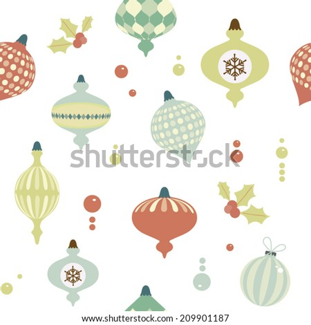 Christmas seamless pattern. Vector illustration