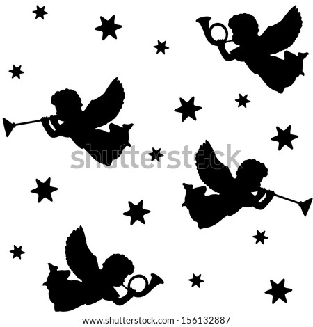 Displaying (18) Gallery Images For Christmas Angel Silhouette...