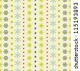 Christmas snowflakes seamless pattern vector - stock photo