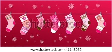 Christmas socks for the gifts in red