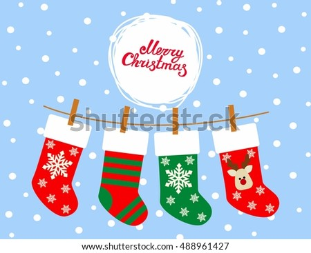 Christmas Socks vector background