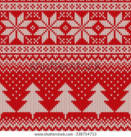 christmas sweater design seamless knitting pattern stock