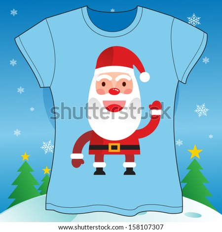 Christmas T-shirt Vector illustration