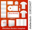 Christmas template for corporate identity design - stock vector