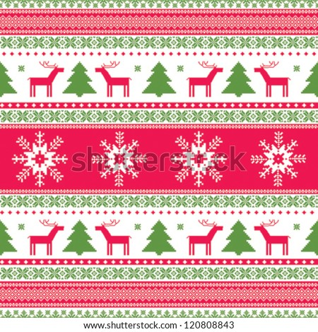 Christmas Traditional Ornament Seamless Pattern Stock Vector ...