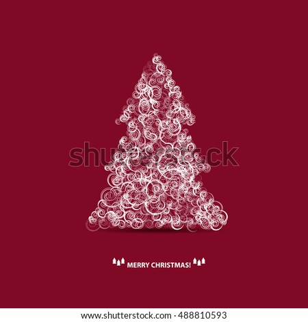 christmas tree for your card