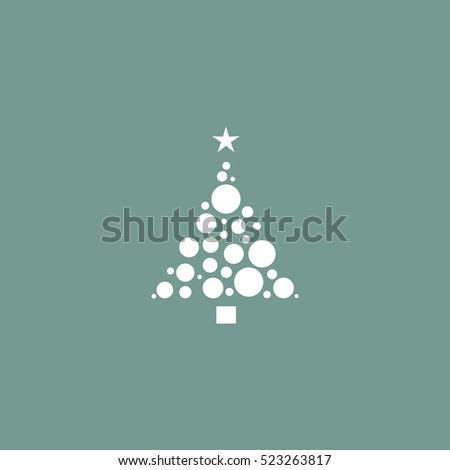 Christmas tree icon simple vector illustration