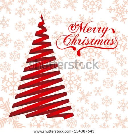 christmas tree over pattern background vector illustration