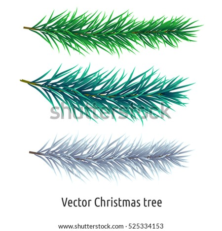 christmas tree branch vector - photo #24