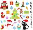 Christmas vector elements set - stock vector
