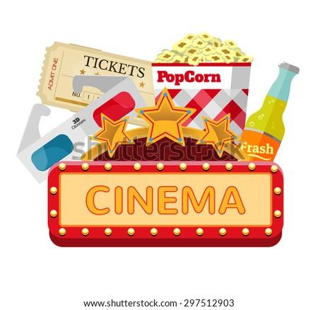 Vector Illustration Movie Marquee Stock Vector 17929690 - Shutterstock