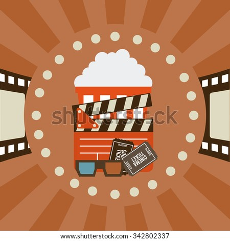 Cinema concept with movies icons design, vector illustration 10 eps graphic