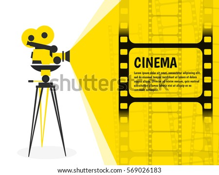 cinema festival poster flyer template your stock vector 569882182