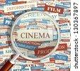 CINEMA. Word collage. Vector illustration. - stock vector