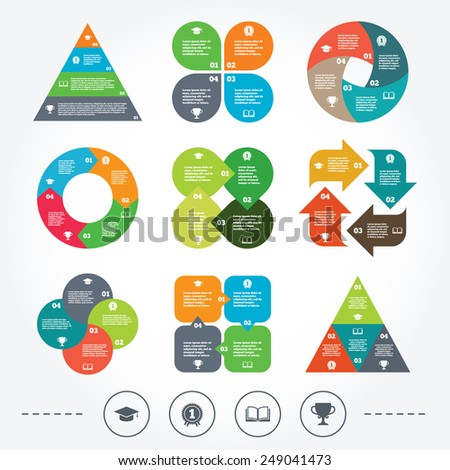 Circle triangle diagram charts food icons stock vector 246951646 circle and triangle diagram charts graduation icons graduation student cap sign education book ccuart Images