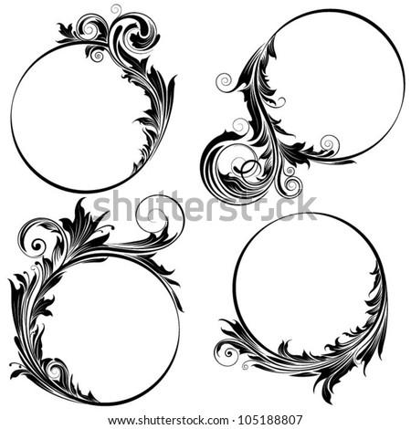 set floral design stock vector 64774261 - shutterstock