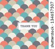 circle japanese seamless pattern background vector, thank you card - stock photo