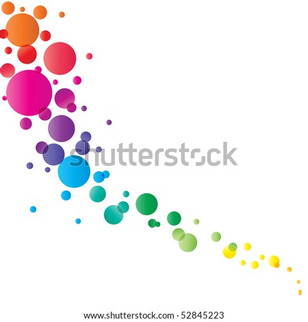 circle pattern on white background, Vector illustration
