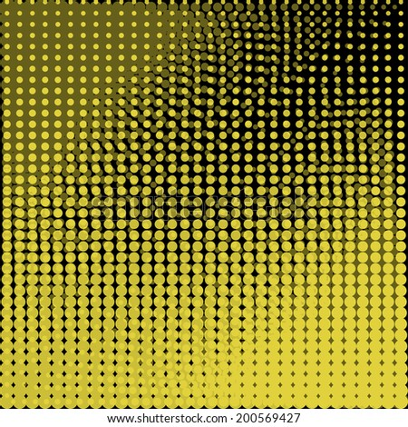 Circles abstract background asymmetric . Black and yellow