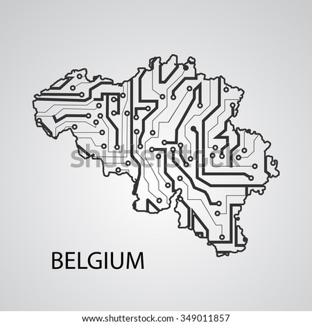 Circuit board Belgium eps 10, vector elegant illustration