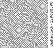 Circuit board vector computer seamless background - electronic pattern - stock vector