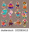 circus stickers - stock photo