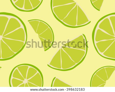 Citrus Background Limes Seamless Pattern
