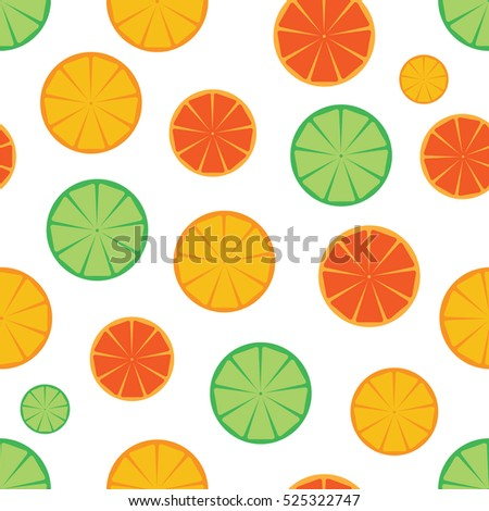 Citrus slices seamless pattern background.Colorful seamless pattern with oranges, grapefruit and limes