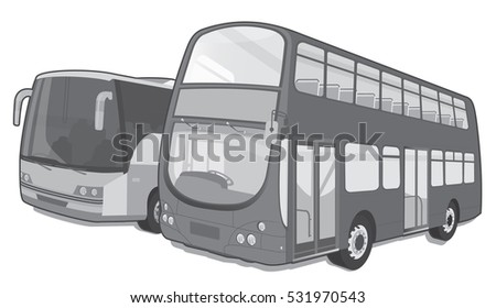 City bus and coach