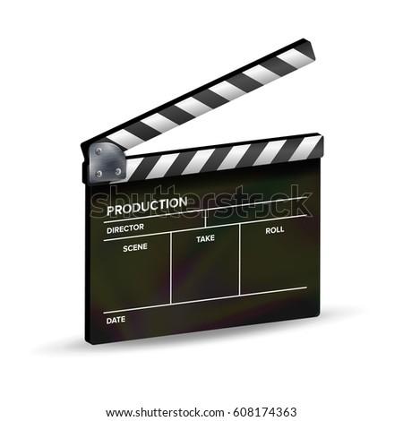 illustration clapper board symbol film video stock vector 101646019 shutterstock. Black Bedroom Furniture Sets. Home Design Ideas